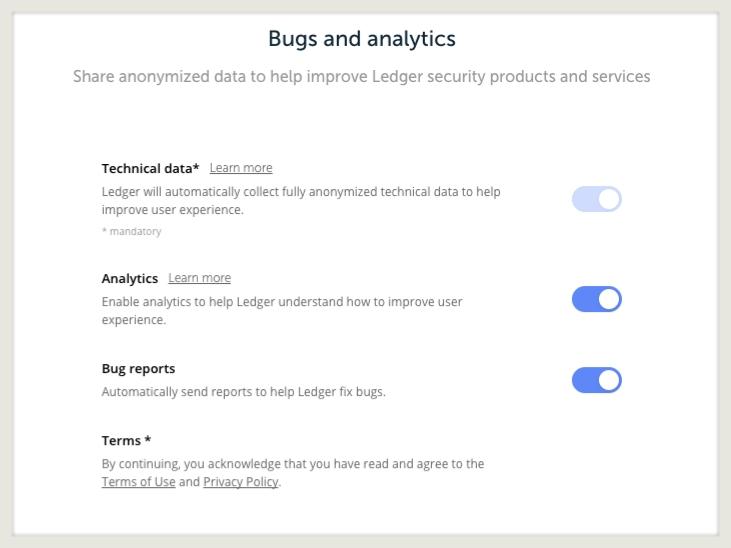 Ledger Live bug report
